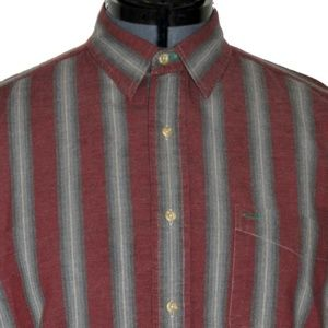 Tommy Hilfiger Button Shirt Maroon Large